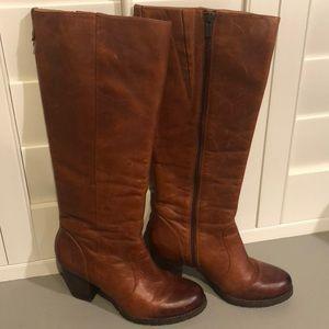 Clarks Indigo Leather Boots